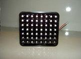 Broms/ Regn lampa LED Rektangulär